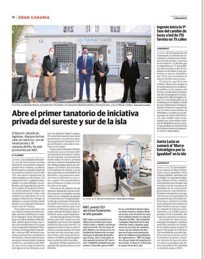 Abre el primer tanatorio privado del sureste y sur de Gran Canaria